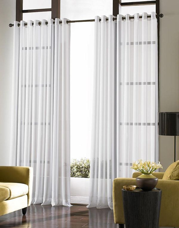 ways to use sheer curtains and valences. Black Bedroom Furniture Sets. Home Design Ideas