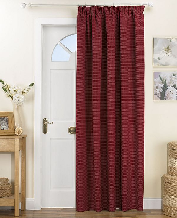 View in gallery red door curtains