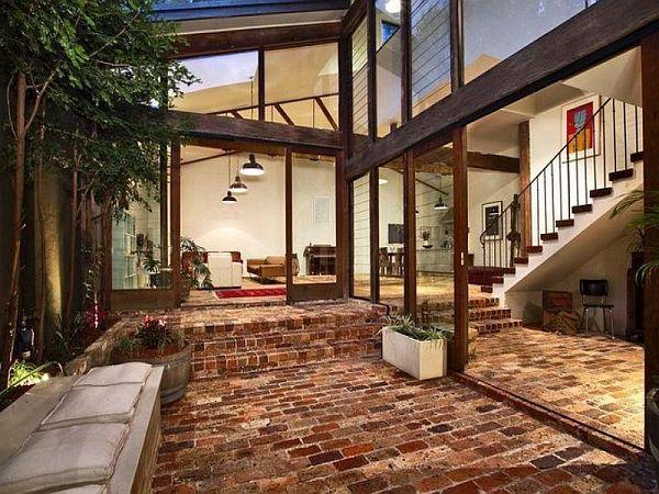 Stunning Indoor Brick Flooring Photos - Amazing Design Ideas ...