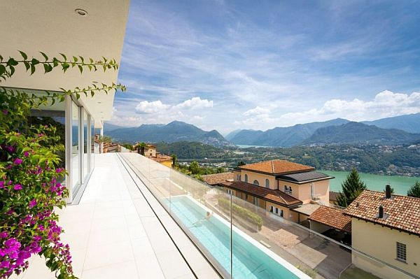 swiss villa with pool