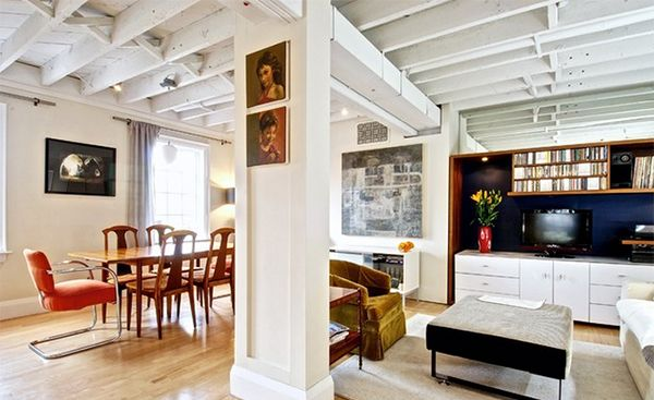 white wooden beams for home
