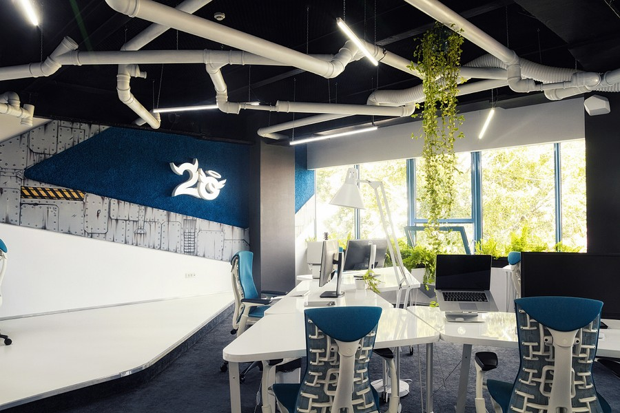 2o Spaceship Office by Ezzo Design