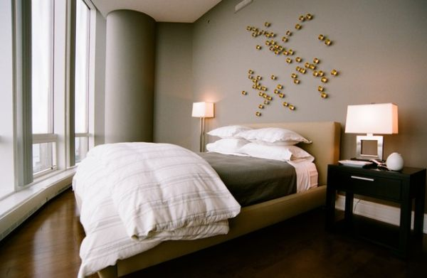 3D wall art brings the alive the trendy grey bedroom!
