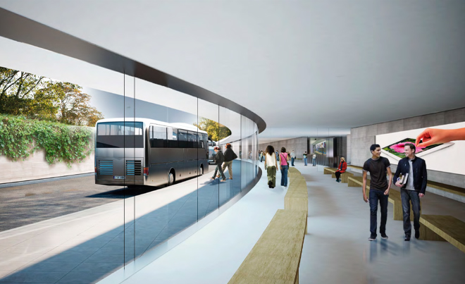 A Look inside the transit center