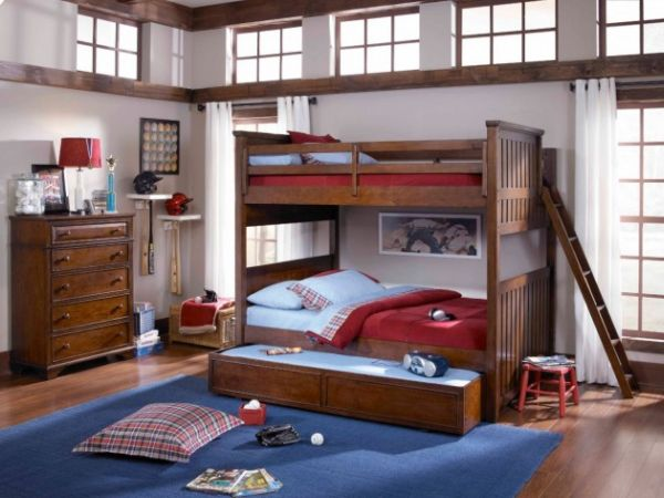 View In Gallery A Bunk Bed With Trundle Features Saves Up On Ample Space