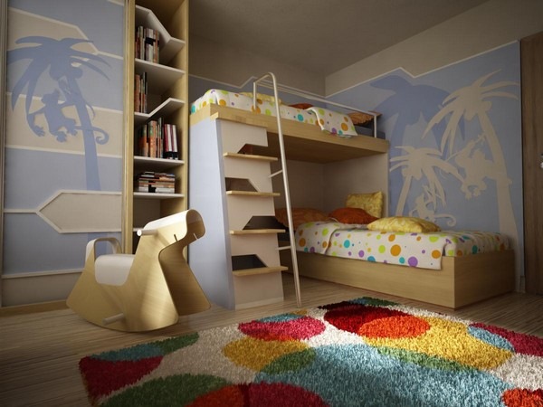 View in gallery A different take on bunk beds!