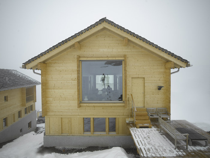 Outdoor deck space at the alpine villa