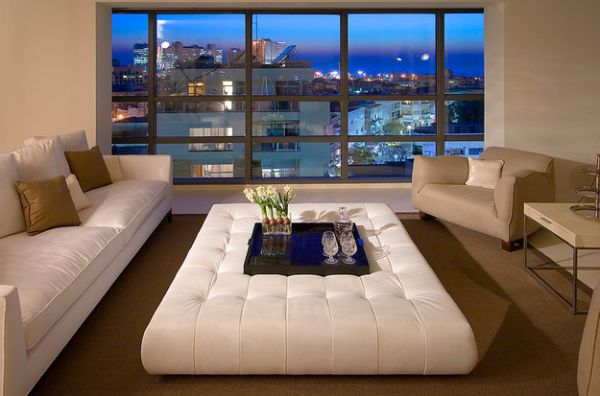 A lovely compromise between a coffee table and a ottoman!