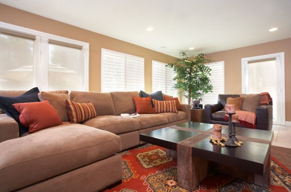 A plush sofa is an absolute must for a great bachelor pad