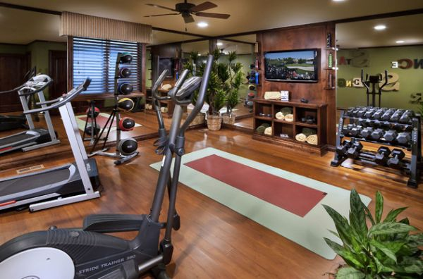 A touch of natural goodness for the exquisute home gym