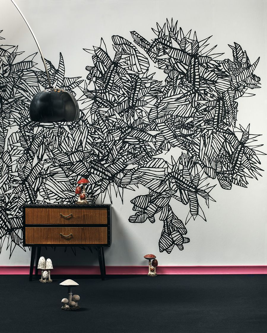 Abstract Cold Song wall mural by  Martin Bergström