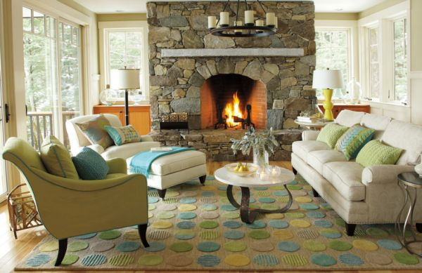 Add a rug for warmer interiors