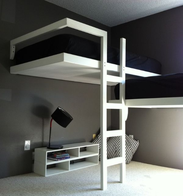 Elegant adult bunk bed idea- Modern and minimalist!