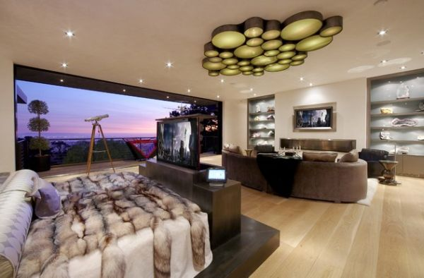 Amalgamate the bedroom and the media room in a stunning fashion!