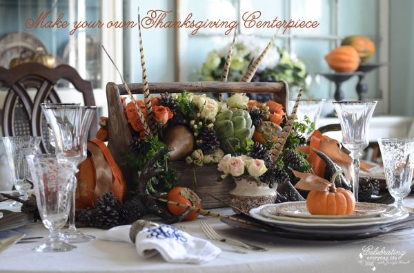 Amazing Thanksgiving centerpiece is filled with an array of colors!