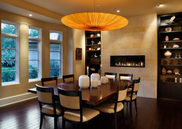 Amazing dining room chandelier seems like it stumbled out of planet Pandora!