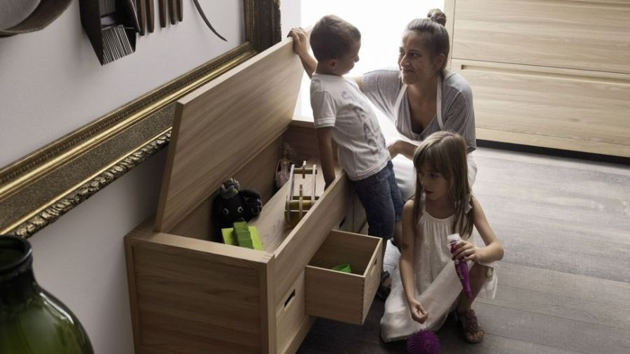 Ample storage space inside the kitchen cabinets