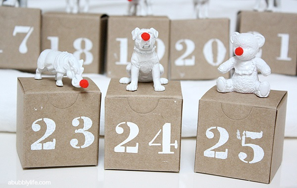 Animal figurine advent boxes DIY Advent Calendars For A Fun Countdown To Christmas