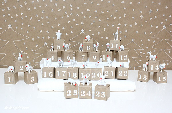 Animal figurine advent calendar DIY Advent Calendars For A Fun Countdown To Christmas
