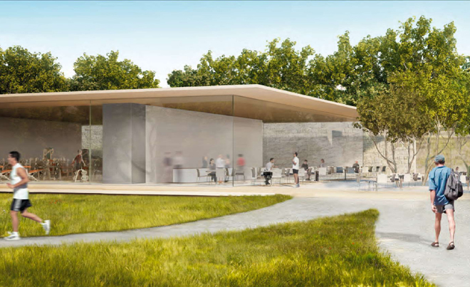 Apple's new campus with in-built workout area