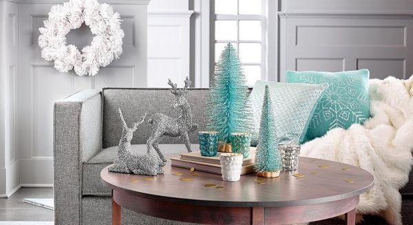 Aqua and metallic color palette