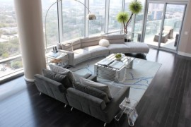 Arco floor lamp is another great addition to the contemporary bachelor pad
