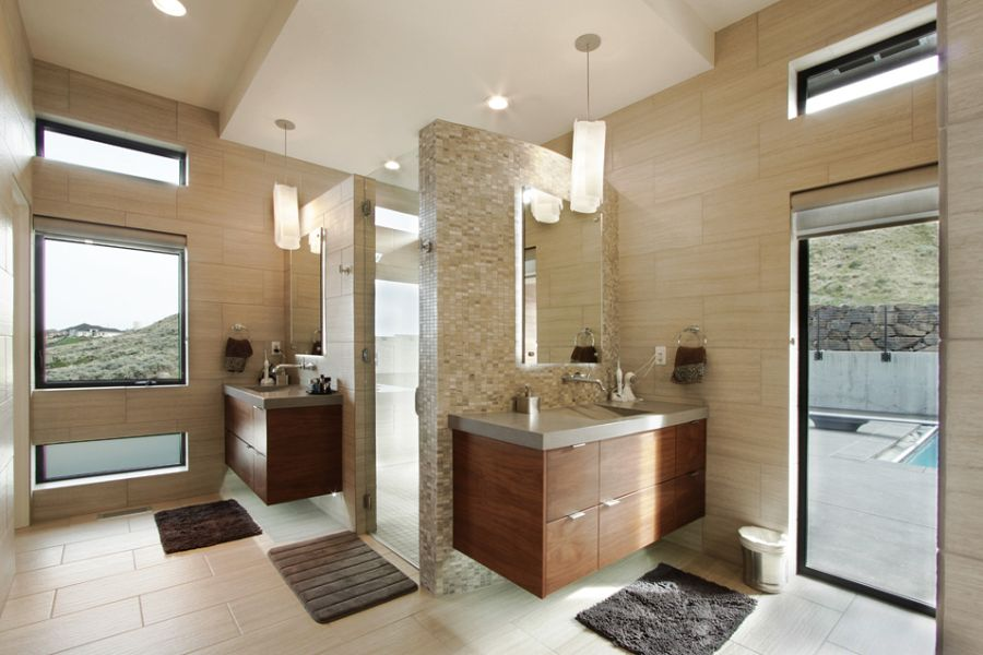 Bathroom inside the badger mountain home