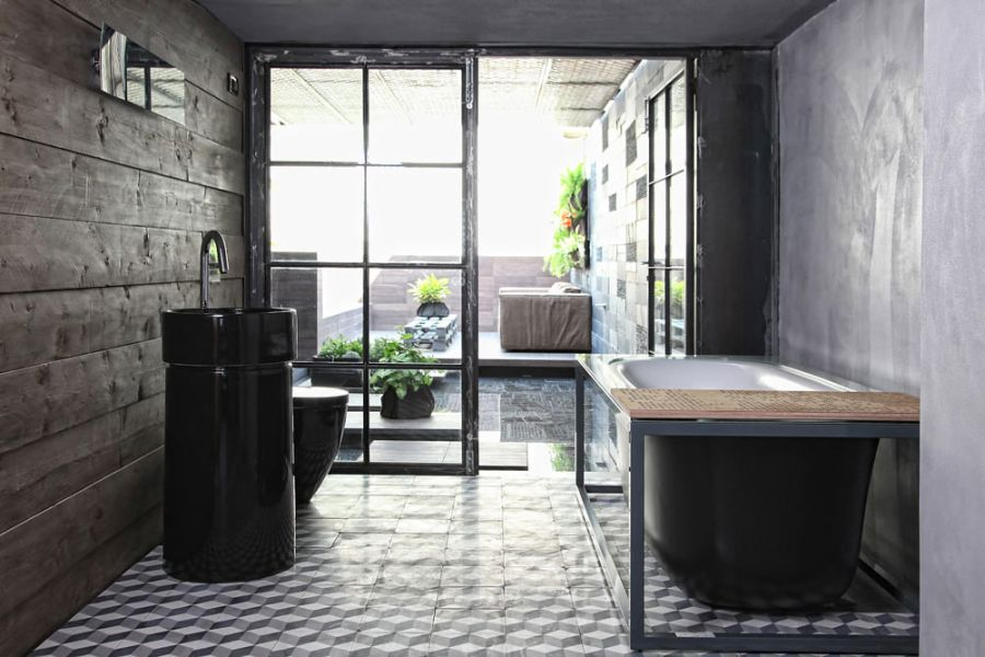 Loft Bathrooms Interior Classy Stunning Greek Loft Doubles As A Dazzling Design Studio Design Ideas