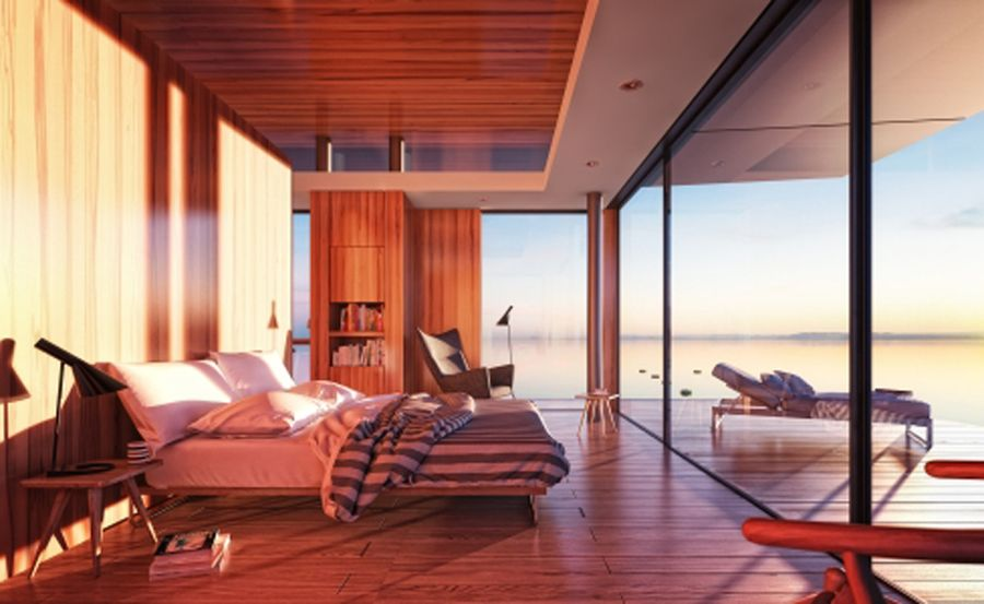 Beautiful and airy interiors viuslaly connected with outdoors