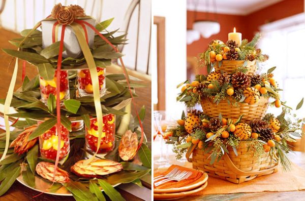 Beautiful and natural centerpieces