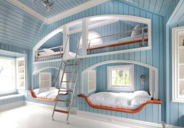 Beautiful bunk beds inspired by the coastal theme