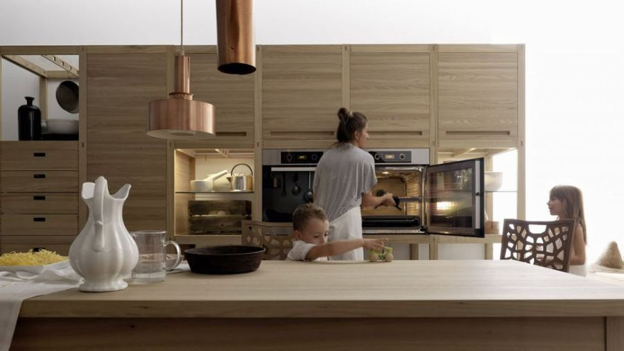 Beautiful kitchen from Valcucine Sleek Kitchen Design With Wooden Inlays by Gabriele Centazzo
