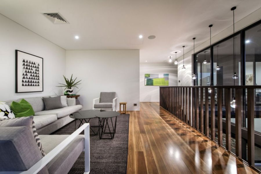 Beautiful living room of the Perth home