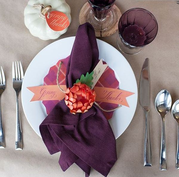 Beautifully folded napkins exude elegance