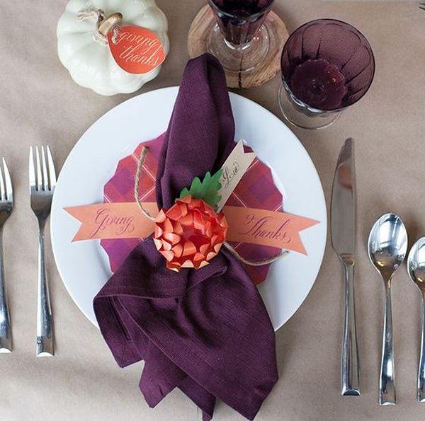 Beautifully folded napkins exude elegance