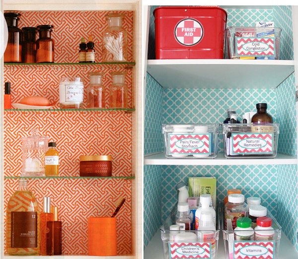 Beautifully lined medicine cabinets