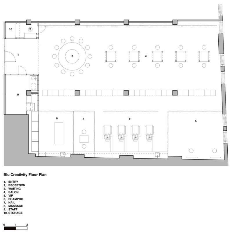Beauty salon floor plan