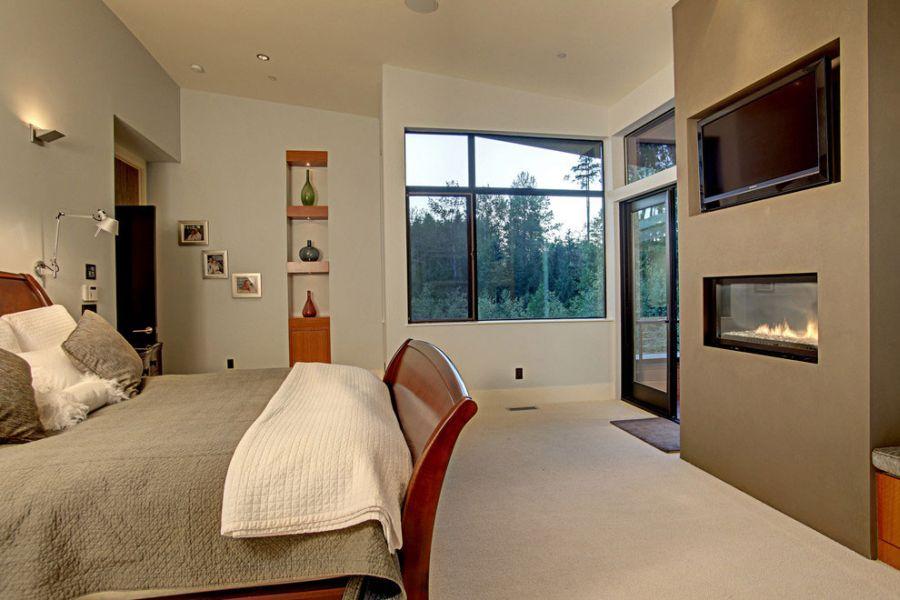 Bedroom fireplace idea