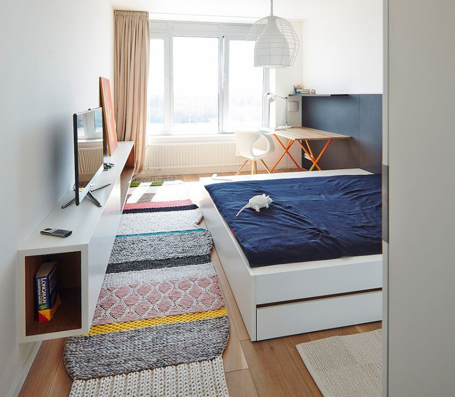 Beuatiful bedroom in white