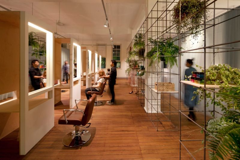 Modern beauty salon in sydney dazzles with its sustainable for Salon nature