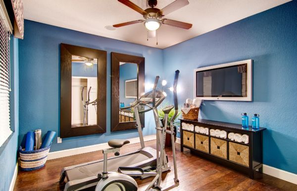 view in gallery blue is both invigorating and relaxing at the same time - Home Gym Design Ideas