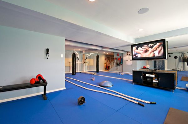 Boxing Gym with in-ceiling speakers to play your workout playlist