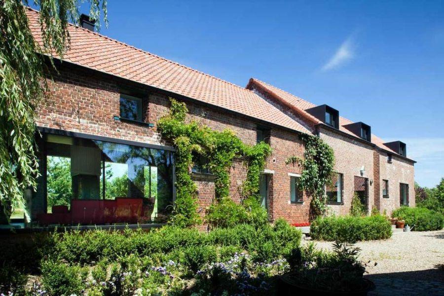 Brick extreior of the famhouse in Belgium