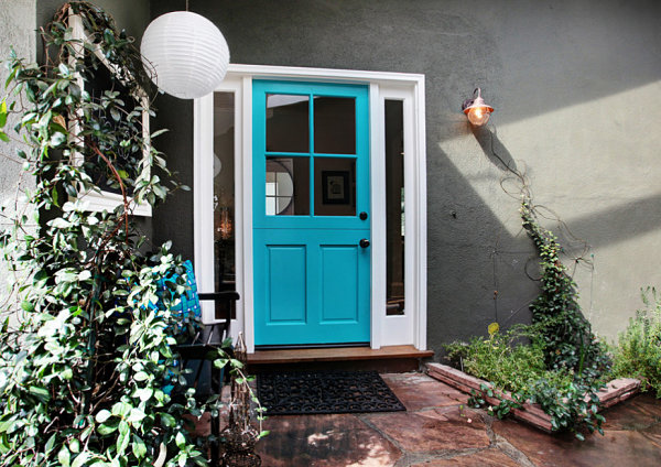 Bright cottage door