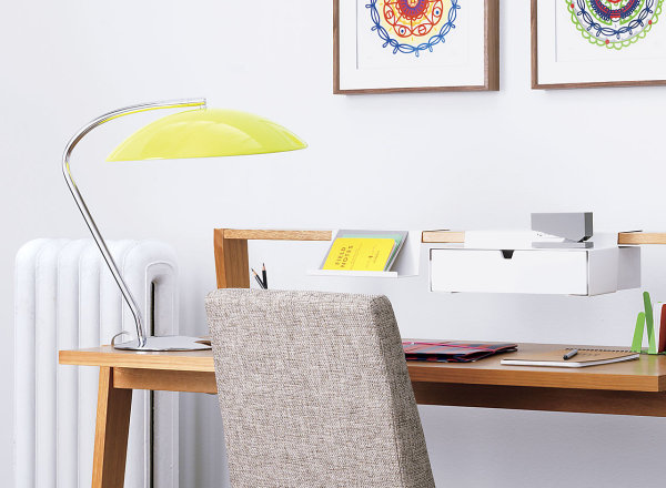 Bright yellow table lamp