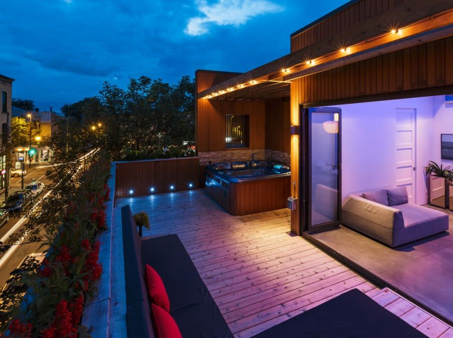 Brilliant LED lighting idea for terrace