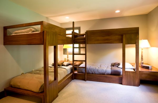 Bunk bed design idea for adult bedroom