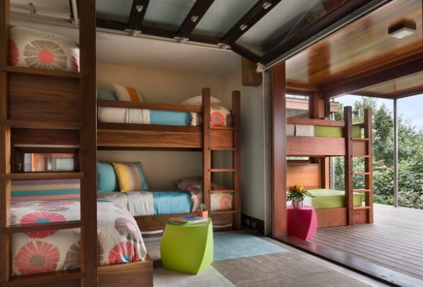 Bunk beds on the inside and outside!
