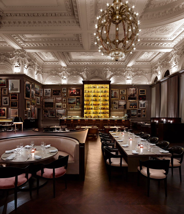 Luxurious london edition blends classic design with a for Restaurant design london