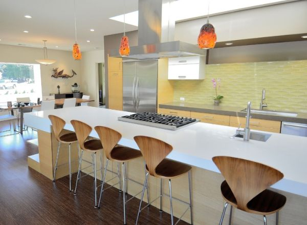 View In Gallery Cherner Chairs   A Popular Seating Choice At The Kitchen  Counter